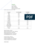 TANK DESIGN 001 API 650 Capacities and Weights Calculation Report