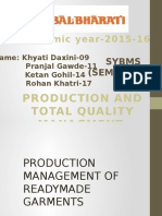 PRODUCTION AND TOTAL QUALITY MANAGMENT