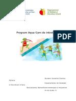 Program Aqua Gym de Intretinere