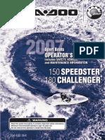 Seadoo 180 Challenger operation and maintenance manual