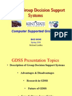 GDSS (Group Decision  Support System)
