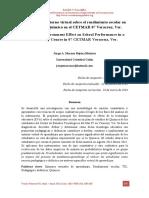 Efecto de un Entorno Virtual sobre el Rendimiento Escolar en un curso de Química en el CETMAR 07 Veracruz, Ver.
