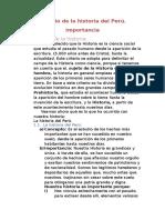 La Historia Del Perú.