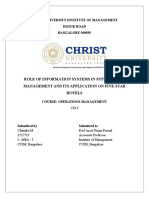 ROLE OF INFORMATION SYSTEMS IN SUPPLY CHAIN MANAGEMENT AND ITS APPLICATION ON FIVE-STAR HOTELS
