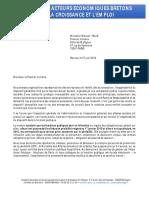 Lettre des organisations patronales bretonnes à Manuel Valls