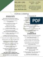 4 Olives - Catering Menu - 05/10