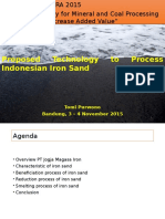 7. Colloquium TekMIRA 2015_Proposed Technology to Process Indonesian Iron Sand