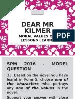 Dear Mr Kilmer_answering the Novel