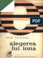 Ianosi, Ion. Alegerea Lui Iona 1973