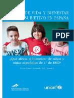 Bienestar Infantil Subjetivo en España