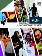 Libro Primer Encuentro Nacional de Gestores Culturales Chile