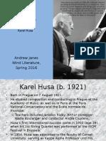 Karel Husa - Al Fresco Presentation