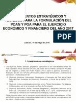 Lineamientos Tecnicos Para Formulacion Del POA 2017