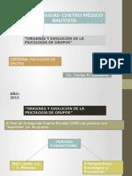Origenes de La Psicología de Grupos 2015