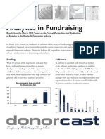 DonorCast Analytics Survey Executive Summary