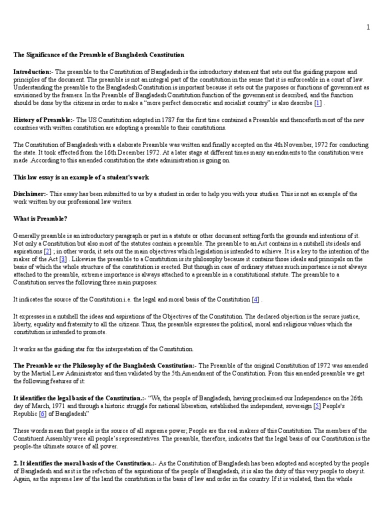 the significance of the preamble of constitution docx the significance of the preamble of constitution docx united states constitution constitution