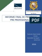 Consorcio Minero Horizonte - Informe de practicas