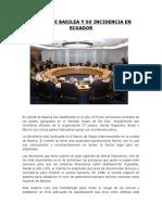 Comité de Basilea y Su Incidencia en Ecuador