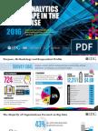 2016 IDG Data & Analytics Survey