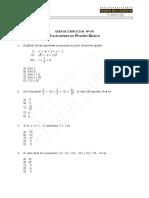 Guía de Ejercicios, Ecuación de 1º Grado WEB 2016