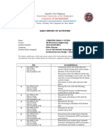 OJT Daily Accomplishment Report