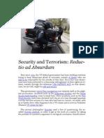 Security and Terrorism - Reductio ad Absurdum