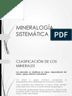 Examen mineralogía sistemática