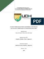 """""""EVASION TRIBUTARIA DE RENTA DE PRIMERA CATEGORIA EN  LOS LOCALES COMERCIALES LA CIUDAD DE HUANUCO 2015"""""""