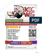 12th Biannual Conference of the German Cognitive Science Society