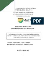 FACTORES RELACIONADOS A LA EVASIÓN DE IMPUESTOS DE TERCERA CATEGORIA DEL NUEVO RUS DE LOS CONTRIBUYENTES EN EL MERCADO MODELO DE HUANUCO