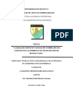 CALIDAD DE SERVICIO Y LEALTAD DE COMPRA