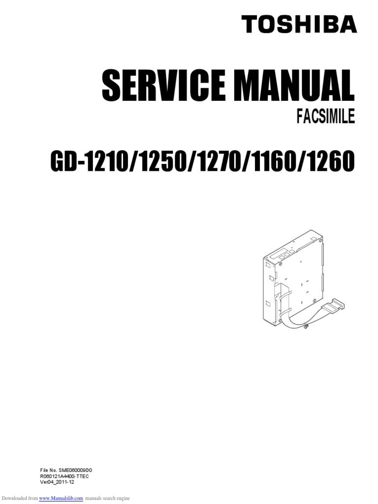 Toshiba 1210_1250_1270_1160_1260 service manual   Fax   Electrical Connector