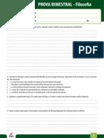 Ensino Fundamental Provas Bimestrais 2014 8o Ano Prova Bimestral 4 Filosofia
