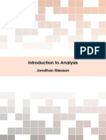 Gleason, Jonathan - Introduction to Analysis