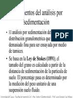 Analisis Por Sedimentacion