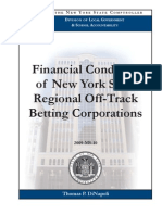 Financial Condition of New York State Regional Off-Track Betting Corporations