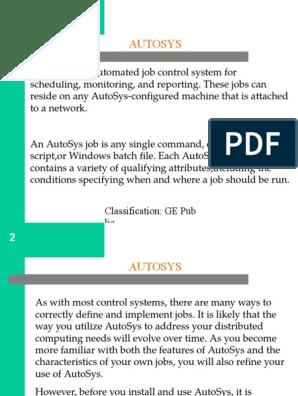 AutoSys Training | Server (Computing) | Command Line Interface