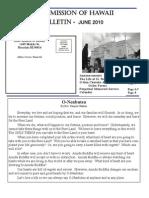 Jodo Mission of Hawaii Bulletin - June 2010