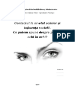 Contactul La Nivelul Ochilor Şi Influenţa Socială