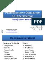 DOE 03 Planejamentos Fatoriais - Completo