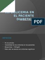 Hipoglicemia en El Paciente Diabetico
