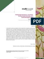 Pirini - 2013 - Analysing Business Coaching Using Modal Density A