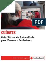 CUÍDATE. Guía Básica de Autocuidado para Personas Cuidadoras