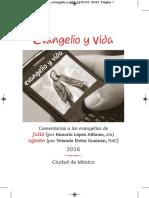 Evangelio y vida Julio Agosto