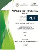 PRÁCTICA 6 (Maneja El Espectrofotómetro de Acuerdo a Las Instrucciones Del Manual de Operación)