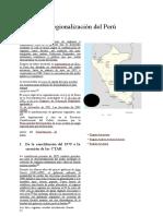 Regionalización Del Perú