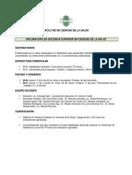 Propuesta Diplomatura para profesionales de la salud 2016. UCES