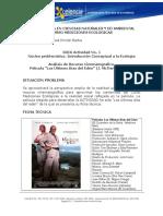 Actividad No. 1 Analisis de Introduccion Conceptual a La Ecología - Analisis Recurso Didactico Cine - Pelicula Los Ultimos Días Del Eden