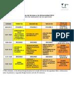 Horario Selec J2014 2