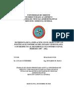 Postgrado.incidencia de La Inflación, En El Marco de Las Políticas Económicas Del Estado Venezolano, Con Respecto Al Desarrollo Económico en El Período 1987 - 2012